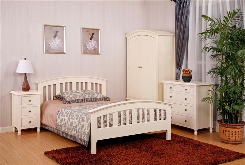 El pino Muebles de Dormitorio muebles pintados/crema/UK Cereste gama ...
