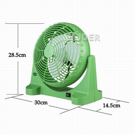 Энергосберегающая литий-ионный аккумулятор Перезаряжаемый портативный вентилятор (JCBK-1201)