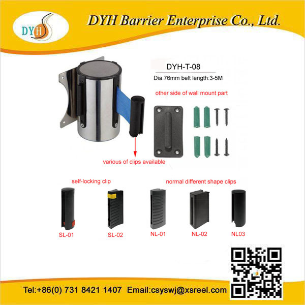 Edelstahl 5m Wall Mounted Retractable Belt Barrier China-Wholesale