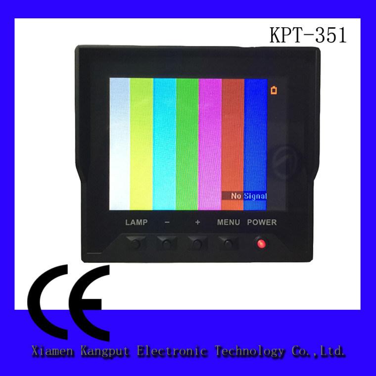Kangput Testen van de Manchet van de Monitor van kabeltelevisie LCD van 3.5 Duim het Multifunctionele