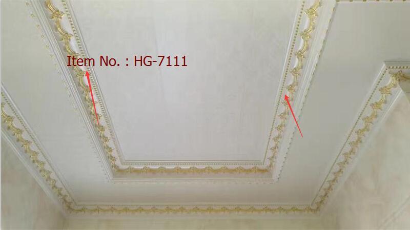 Cornisa de la PU del poliuretano de Huage que moldea para el emparejamiento con el panel de pared y la pared Paple