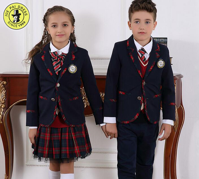 bc61be8238e9b Custom nueva Escuela Secundaria los alumnos la Escuela Primaria uniformes  uniformes de la clase de primavera