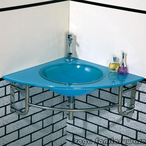Lavabo de colada de cristal de la esquina vs 6040 - Muebles de bano en esquina ...
