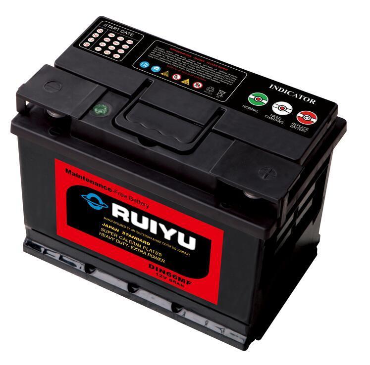 12 V batterie sans entretien DIN66 Batterie de voiture