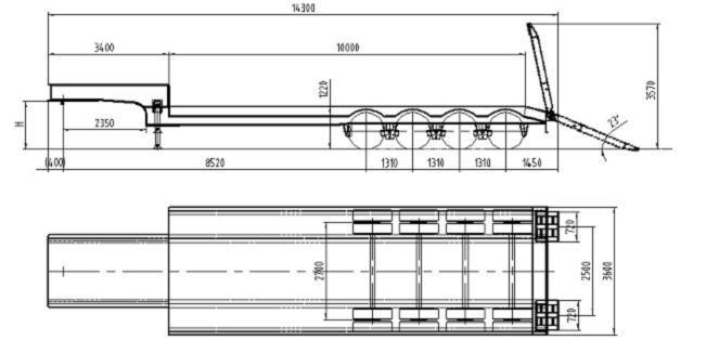 quatre semi trailer basse de l 39 essieu lit zjv9303tdprj quatre semi trailer basse de l 39 essieu. Black Bedroom Furniture Sets. Home Design Ideas