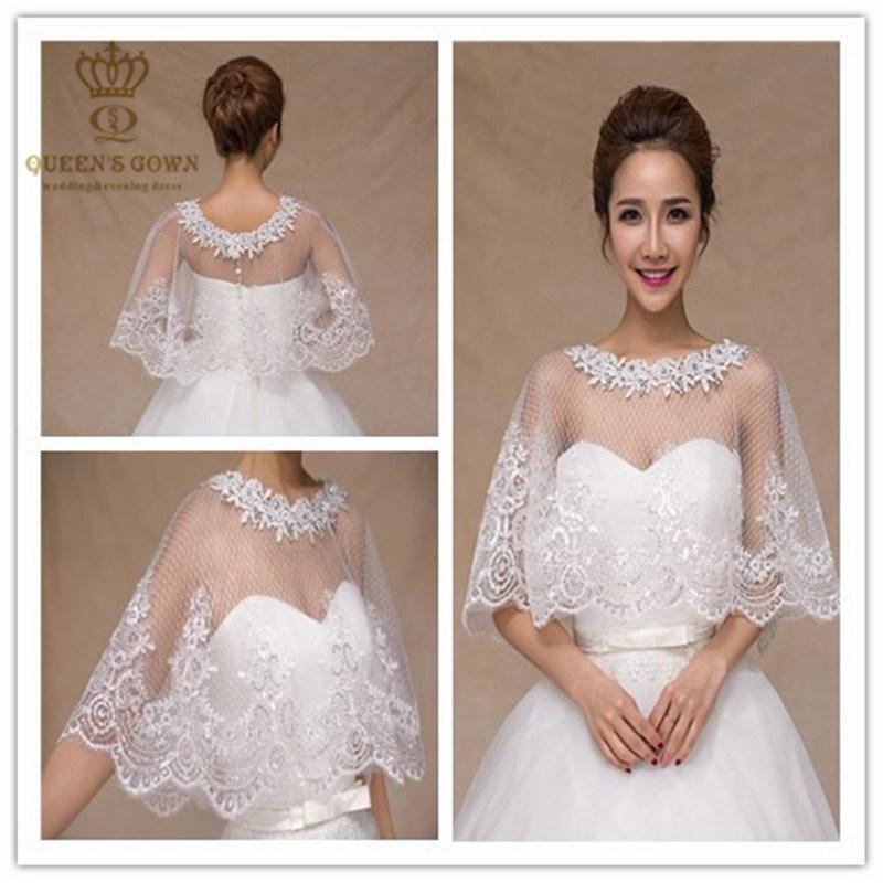 Vestidos de novia con chaleco de encaje