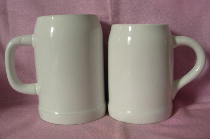 Céramique/grès blanc personnalisé de la bière WSY679Mug Tasse (M)