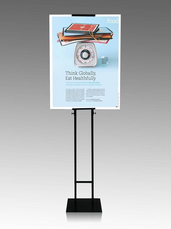Pop-display bord met dubbele bestrating, pop-stalen standaard, (HM-PS-HL-1301)