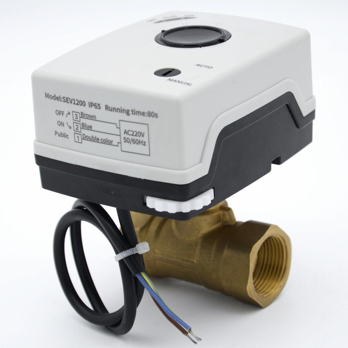صمام أمان بالمحرّن الكهربائي DN25 ذو اتجاهين، ذو اتجاهين، سيف1200