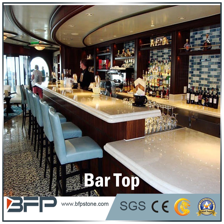 Foto De Cozinha Moderna Cozinha Bancada Ilha Top Marble Bar Topo Em