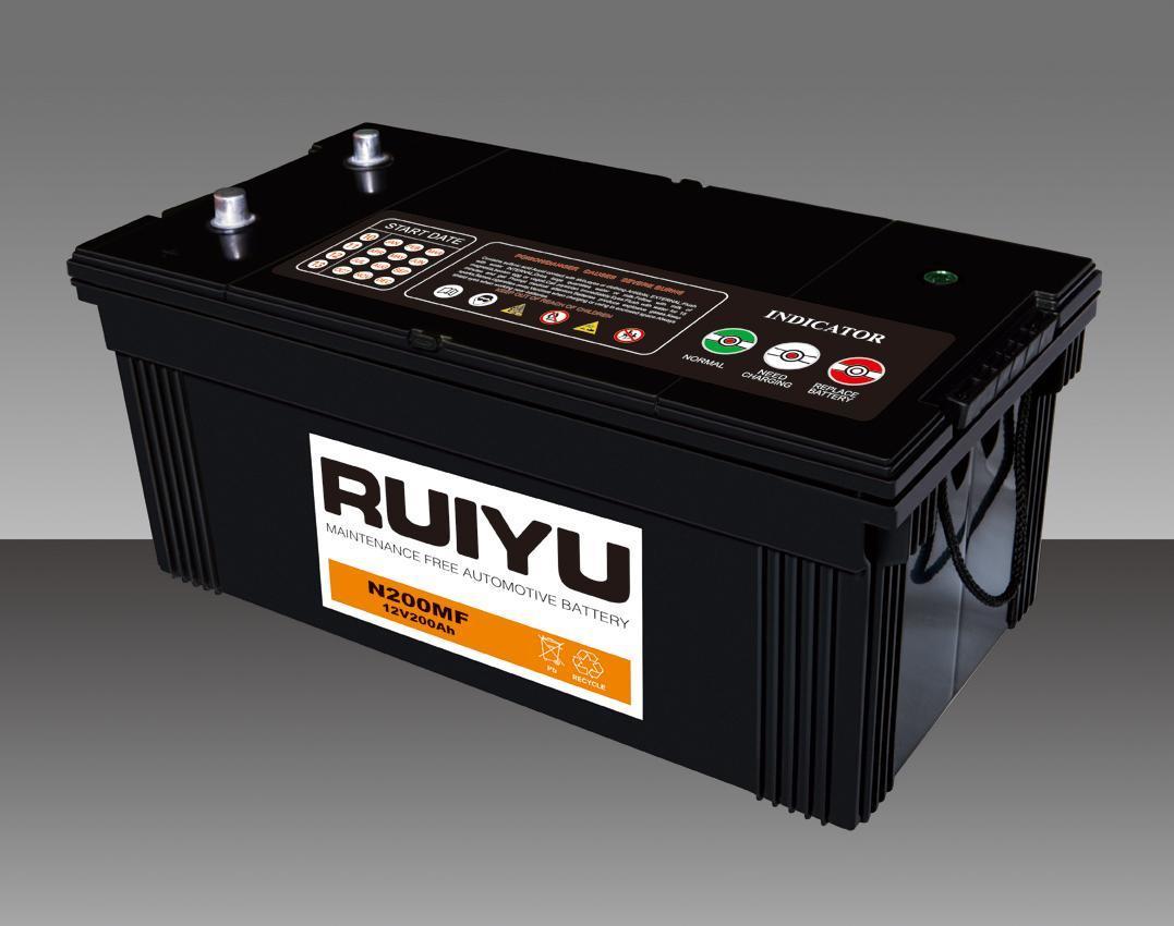 JIS Std 12V 200Ah sellados libres de mantenimiento de la batería de automoción