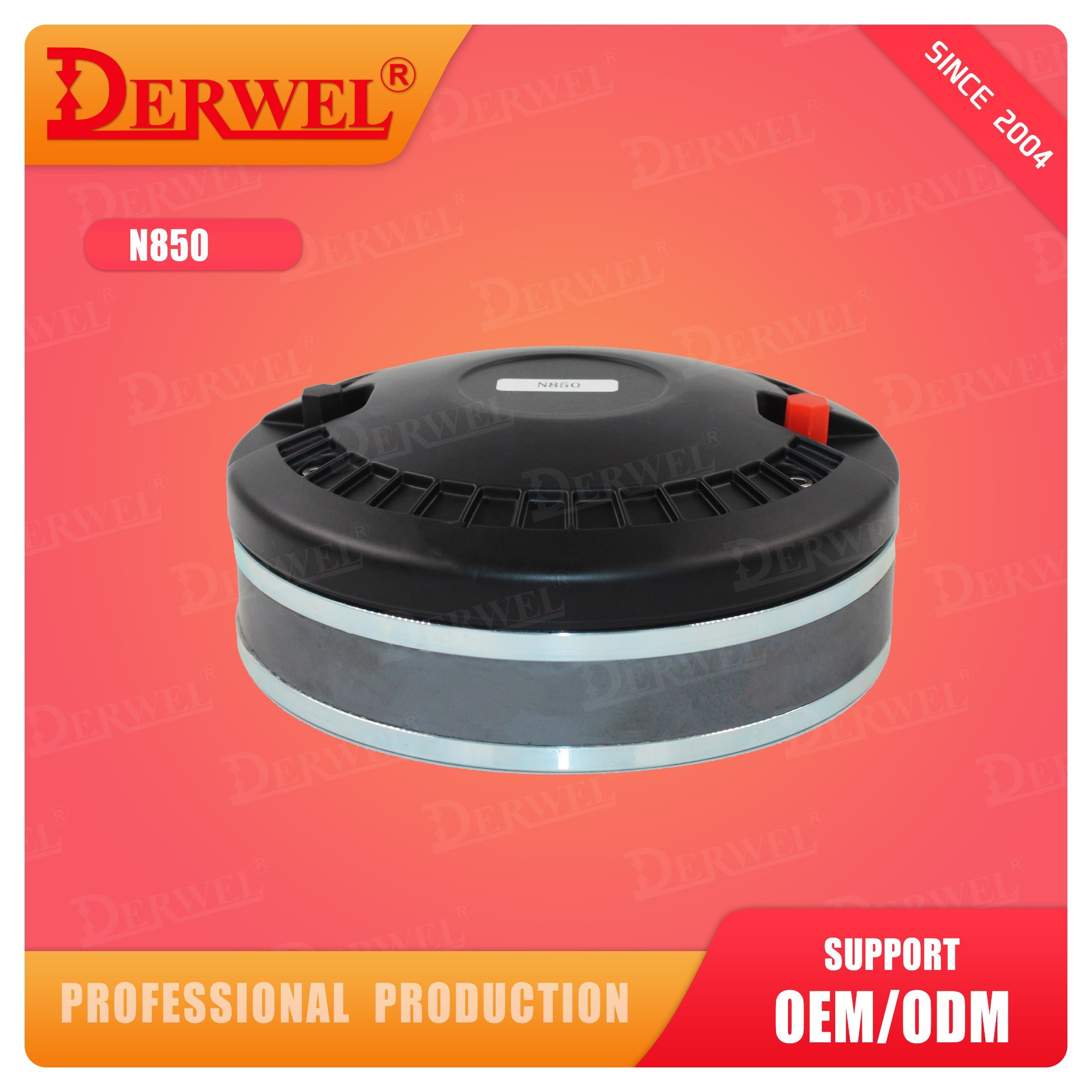 DERWEL 직업적인 확성기 75mm 음성 코일 tweeter 직업적인 오디오 건강한 Syatem 스피커 운전사