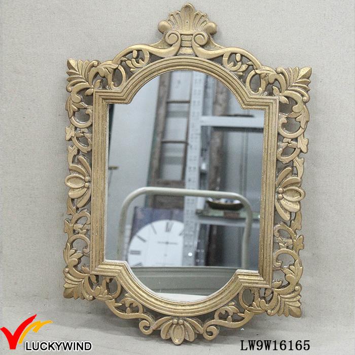 Enmarcado de madera dorada Vintage francés espejo colgando ...