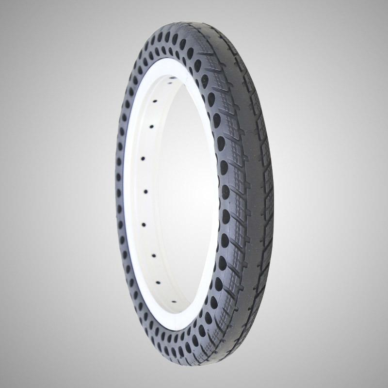 12*1,5 polegadas pneu sólido livre de ar