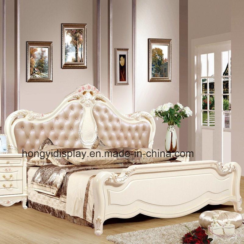 Elegante Estilo Europeo camas de madera blanco talladas – Elegante ...