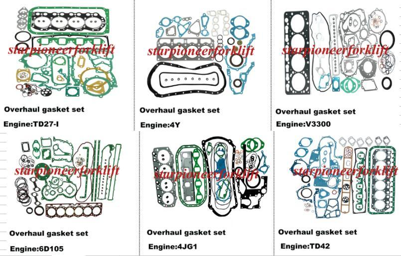 Carro Eninge reestruturando os kits de junta Td27/4Y/V3300/6D105/4JG1/TD42