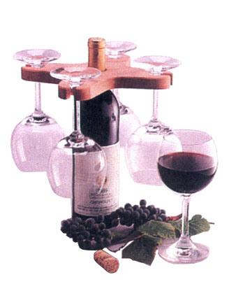 Vino Glass-Bottle Rack