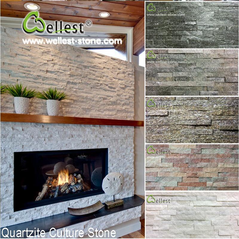Foto de pizarra piedra natural de la pared de piedra - Panel piedra exterior ...