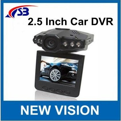 Car DVR with 2.5inches 270degree Rotatable Ltps Colorful LCD, 6lr LED Night Vision