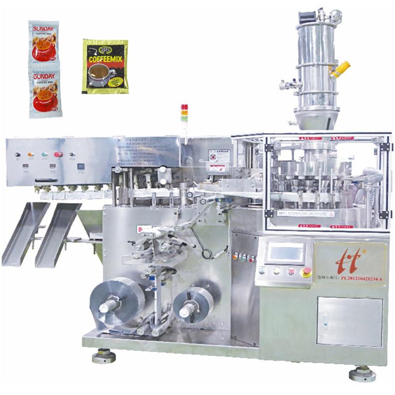 Alta velocidade totalmente automática pequena máquina de embalagem sachê de café em pó