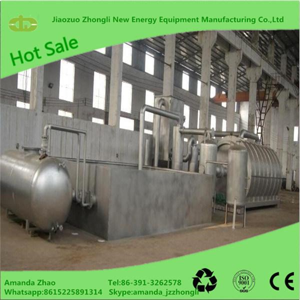 小さい熱分解機械無駄のタイヤの熱分解のプラントゴム製原料の機械装置