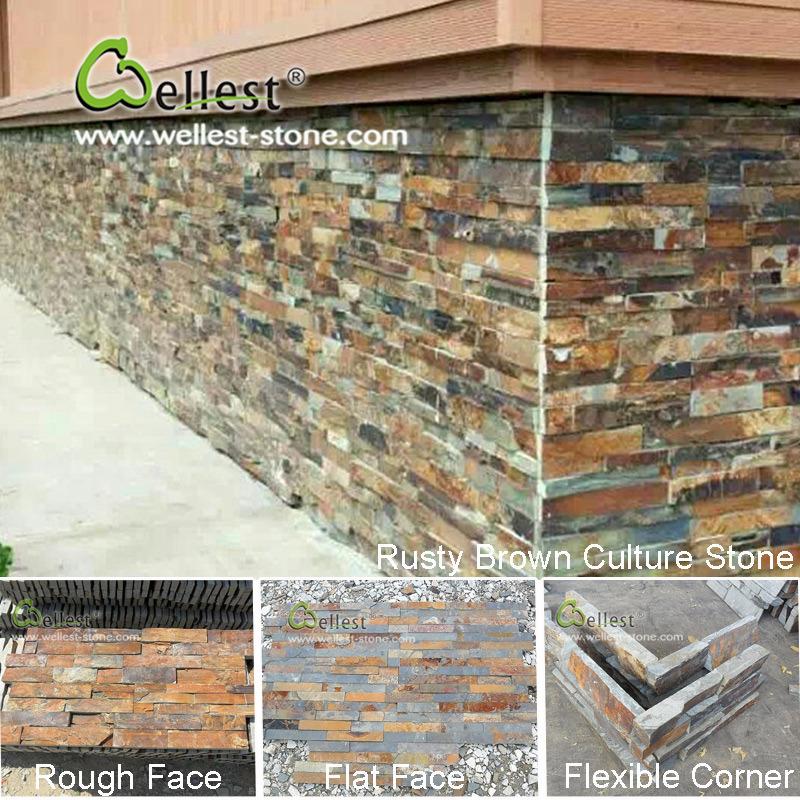 Foto de pizarra piedra natural de la pared de piedra - Panel piedra interior ...