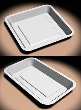 أدوات المائدة الورقية - لوحة مستطيلة