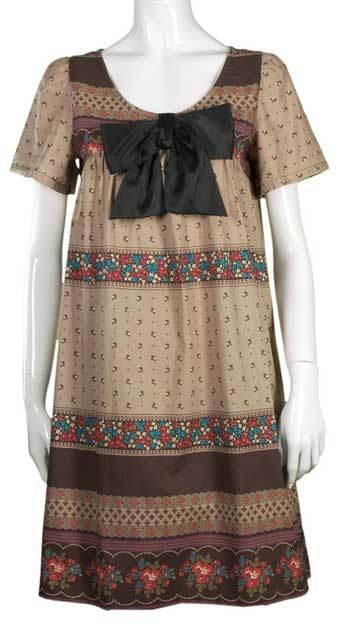 Eendelige jurk in Koreaanse stijl met bloemen (D-167)