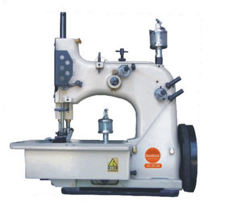 Teppich Overlock Nähmaschine für die Flachs-Beutel, die Gebrauch ...