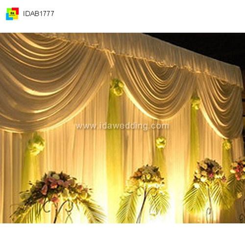 IDA Hot Sale Design di Organza Wedding Backdrop Curtain