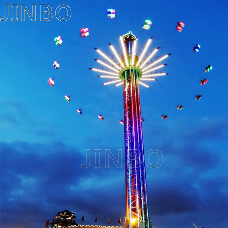 China Jinbo Producto nuevo folleto de Cielo Parque de Atracciones Parque Paseos Paseos en equipos de la torre de vuelo