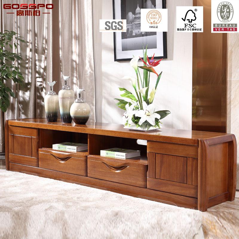 Foto de Moderna rústica muebles de nogal soporte para TV / TV ...