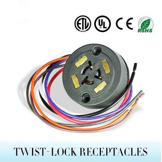 7 Photocontrolのメス型コネクタのTwist-LockのソケットANSI C136.41のためのPinワイヤー4パッドのソケットのソケットを薄暗くするTe Tycoの街灯