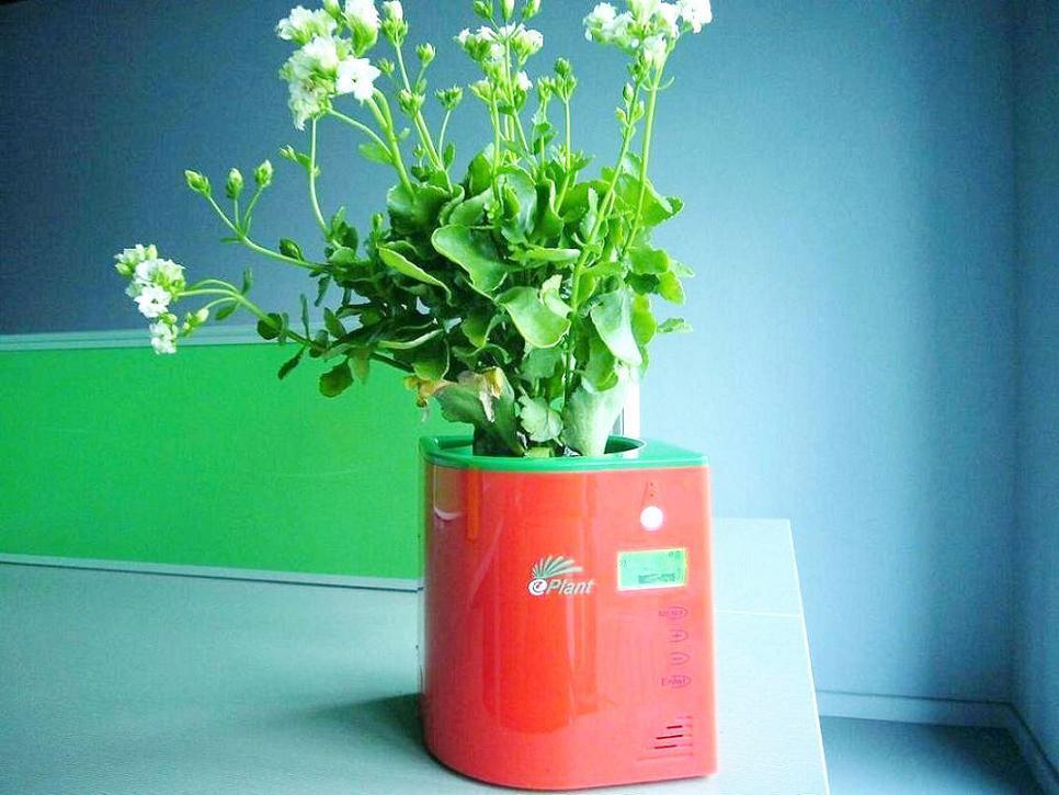 2012新しい設計創造的な赤外線センサープランター方法デジタルスマートな花の植物の鍋
