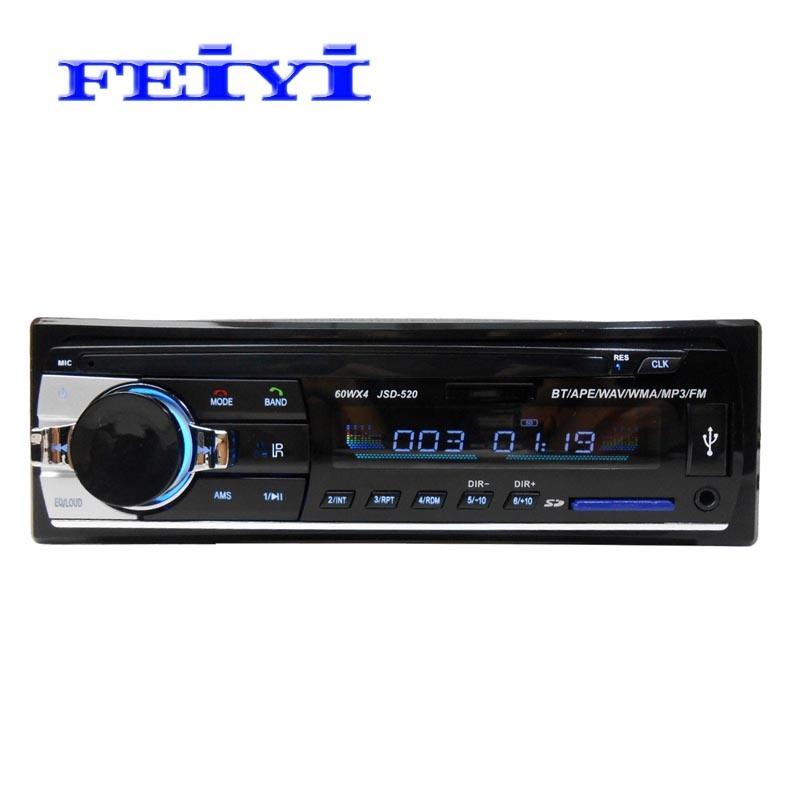 1 de FM van de Radio van de Auto van DIN MP3 USB BR BT A2dp overhandigt Vrije Afstandsbediening