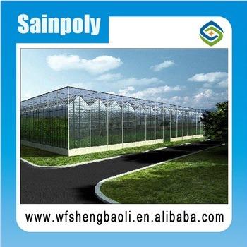 Sainpoly invernadero de plástico con sistemas de refrigeración/calefacción