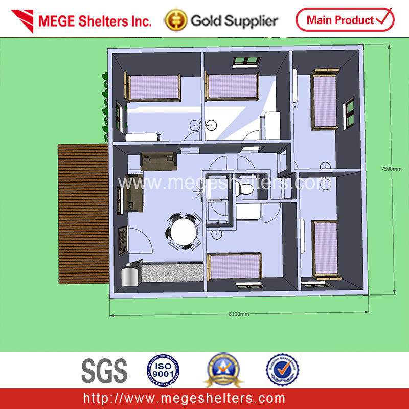 Casa prefabricada de paneles sándwich OSB logcabin- (kits) (SP-05 ...