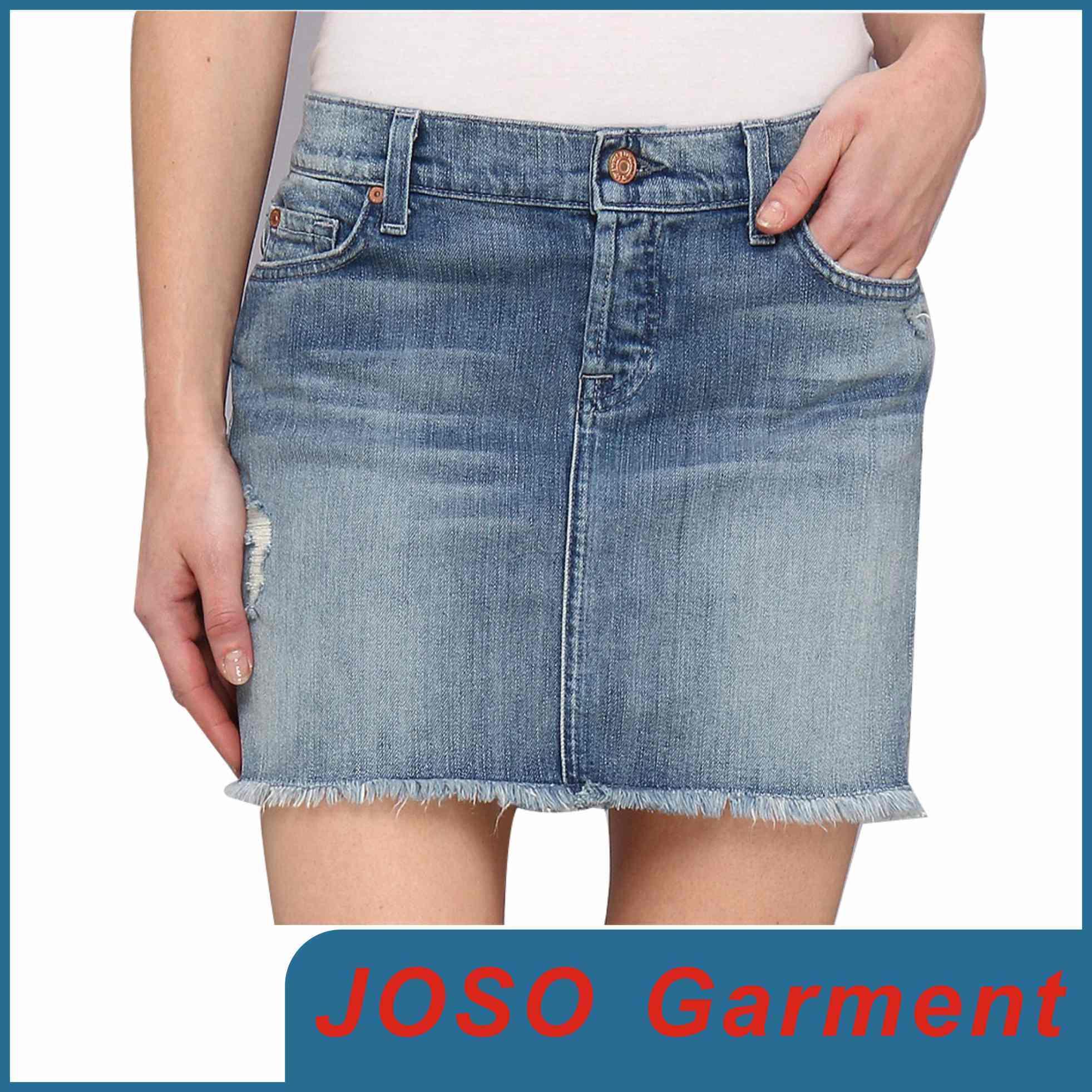 女性の小型デニムのスカート(JC2025)