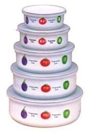 5pcs эмаль льда чаша