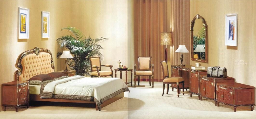 Meubles de chambre à coucher King Size Antique de luxe (GLB-201 ...