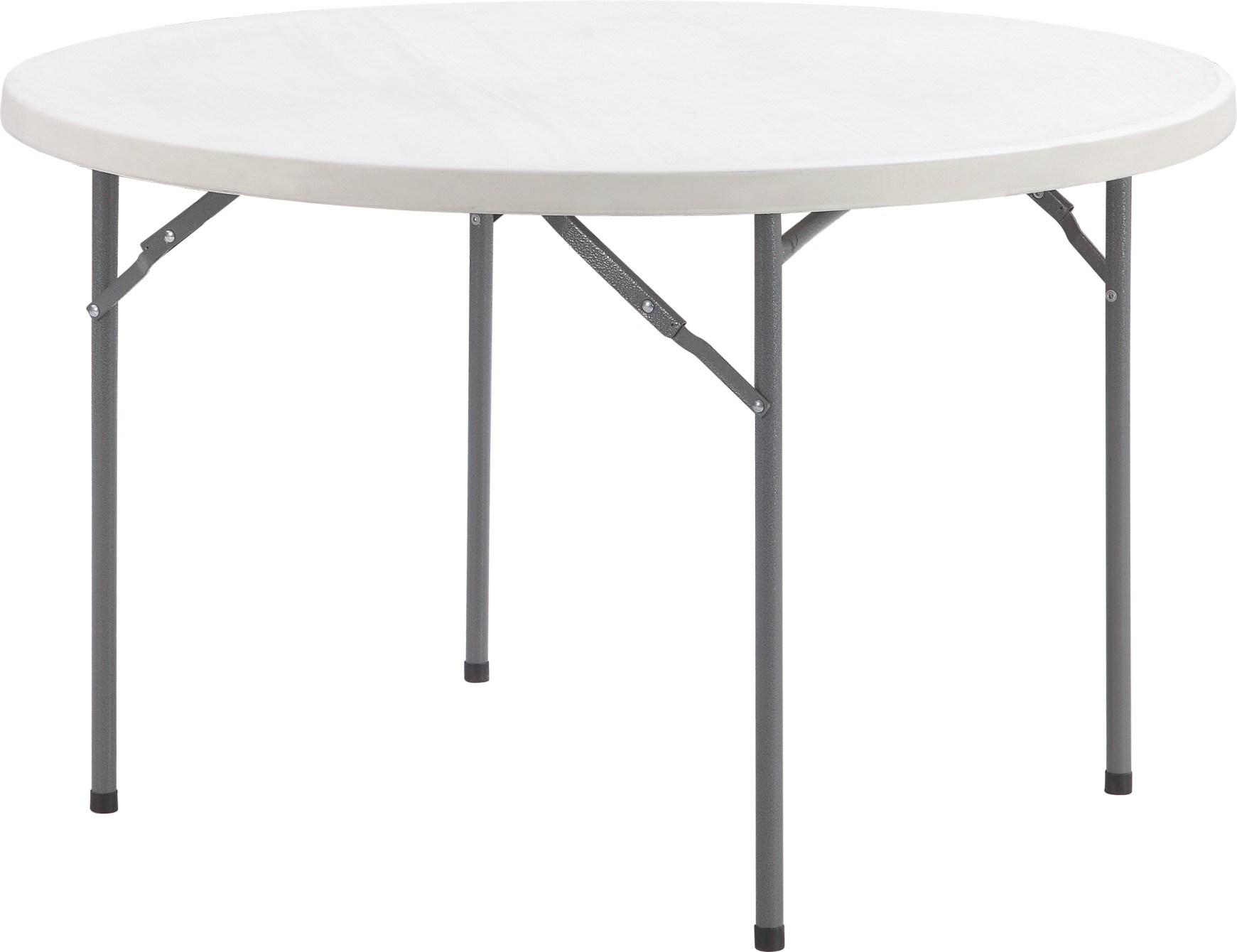 1 22m Petite Table Ronde De Pliage En Plastique De Costume Pour 4
