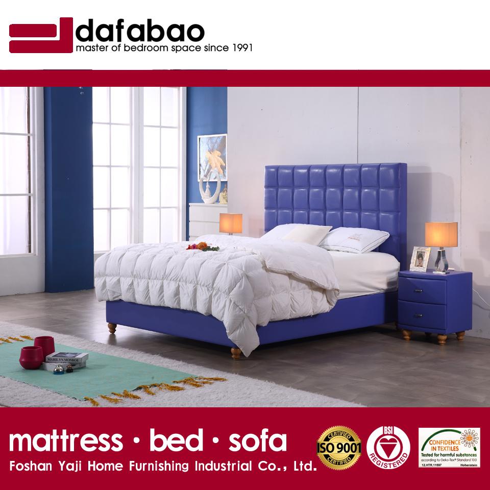 Modernes Gepolstertes Plattform Leder Bett Für Schlafzimmer Ausgangs