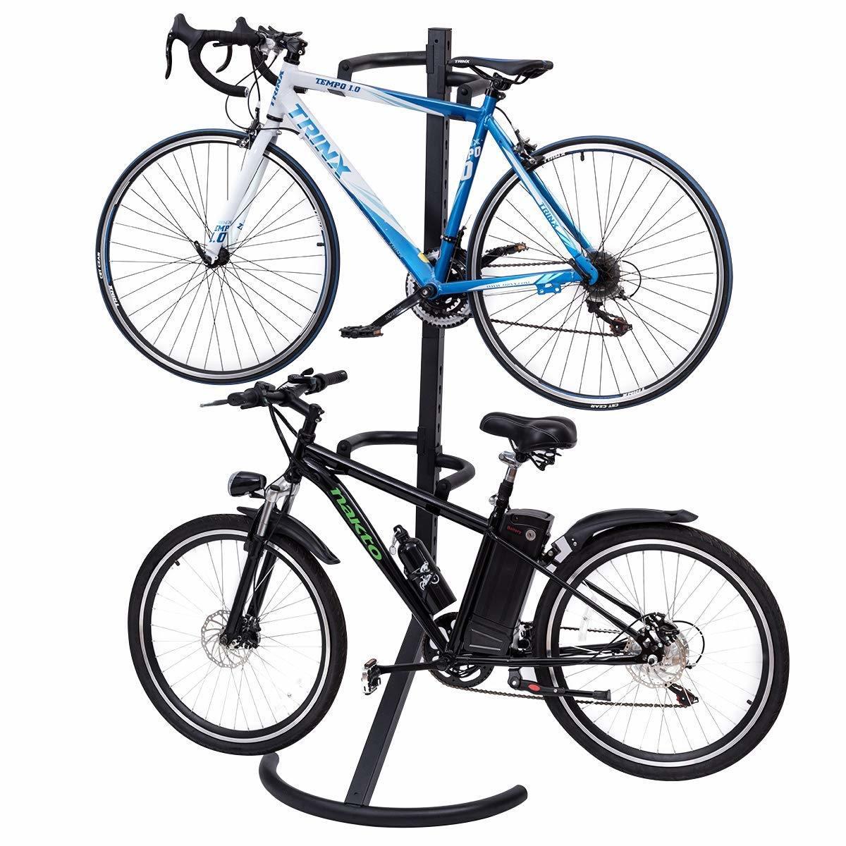 Fixation Pour Velo Garage chine affichage de deux vélos support vélo pour garage ou d