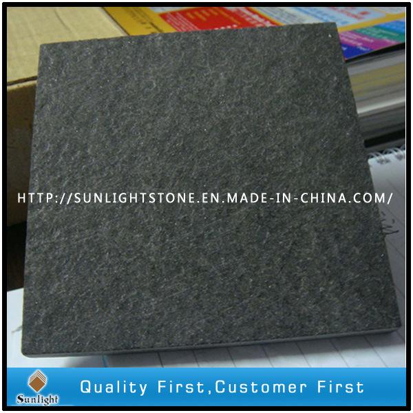 Natural flameado china hebei negro piedra granito suelo for Piedra granito negro