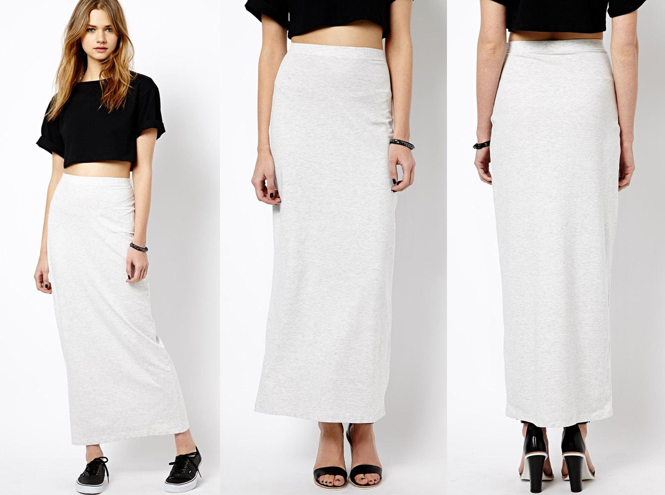 Style simple de haute qualité Maxi longue jupe tube droit