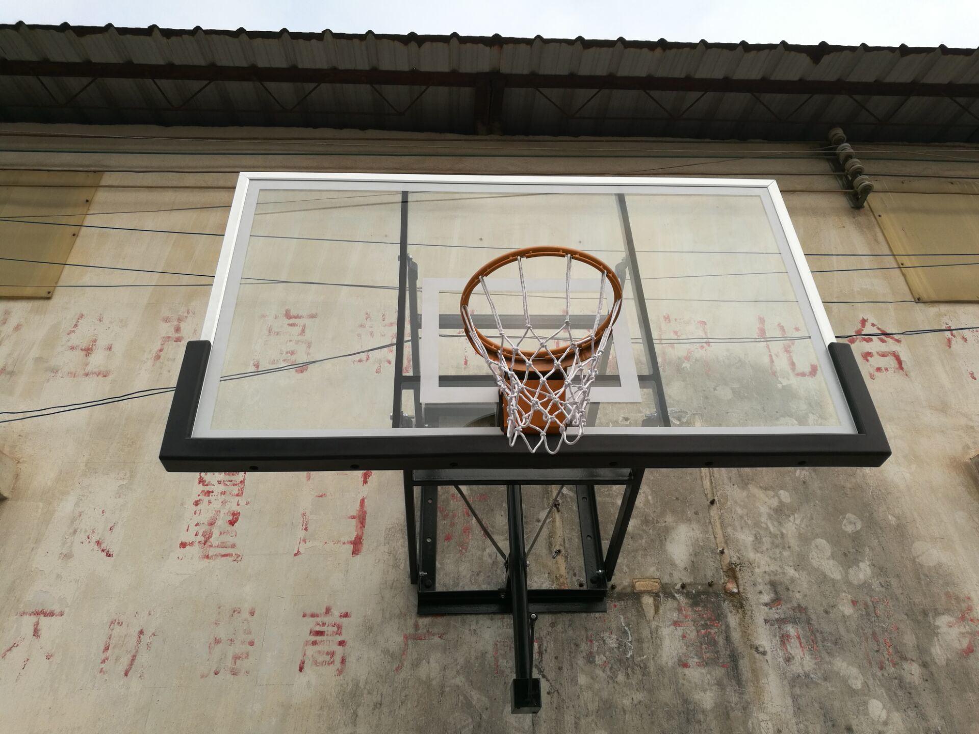 Foto de Armazón de aluminio vidrio templado Tablero de baloncesto en ...