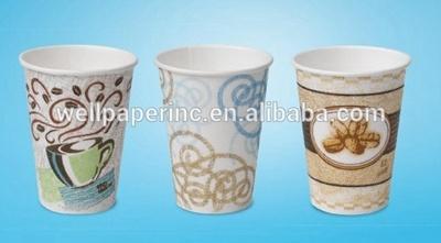ふたのペーパー熱いデザートのコップ8 Oz (袖1本あたりの20本の袖、50個のコップの箱)が付いている使い捨て可能で熱い飲み物の紙コップのコーヒー