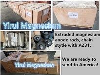 Ánodo de magnesio Ánodo de magnesio extruido varilla varilla para calentador de agua