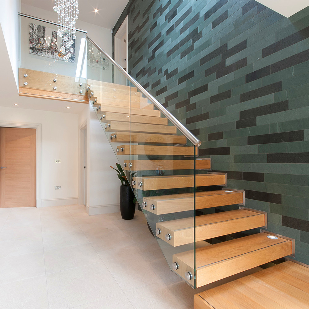 Foto de venta caliente para interiores modernos barandilla for Diseno de escaleras de madera para interiores