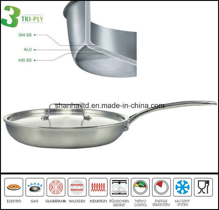 3つの層フライパンの小鍋の調理器具